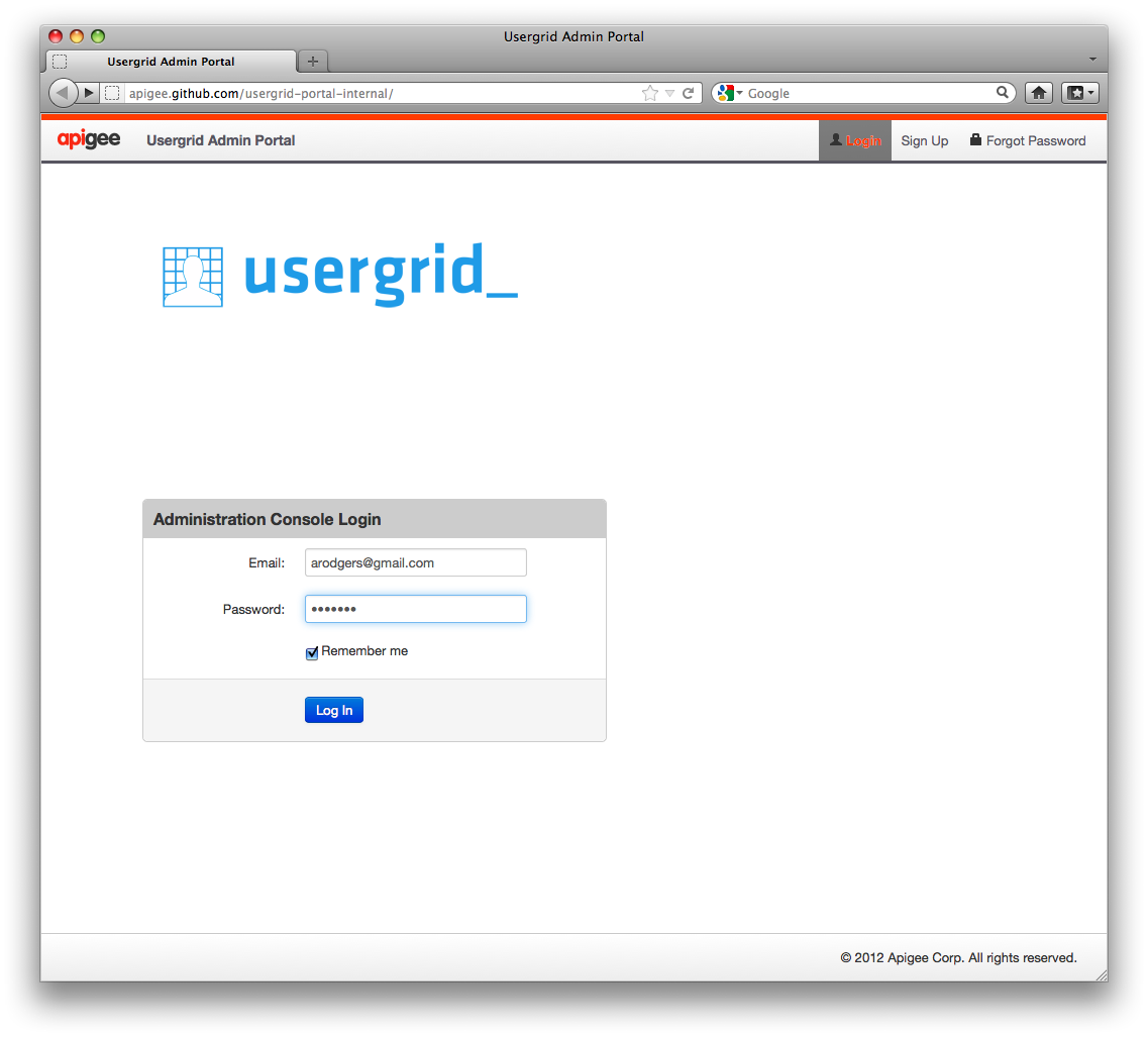 App Example - Messagee — Apache Usergrid 2 x documentation